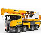 BRUDER 03570 Scania Liebherr Crane Truck with L&S