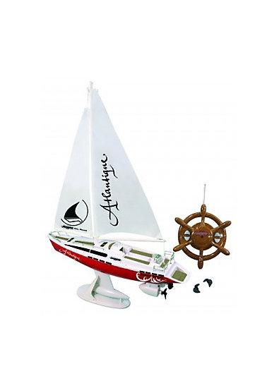 Jamara Segelboot Atlantique mit Motor und RC Fernsteuerung (27Mhz 2CH RTR)