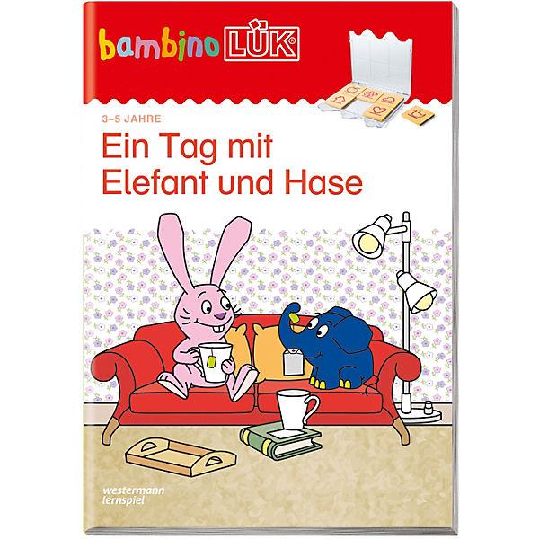 bambino l k heft ein tag mit elefant und hase bambinol k mytoys. Black Bedroom Furniture Sets. Home Design Ideas