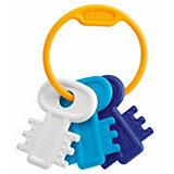 "Погремушка ""Ключи на кольце"", голубая, Chicco"
