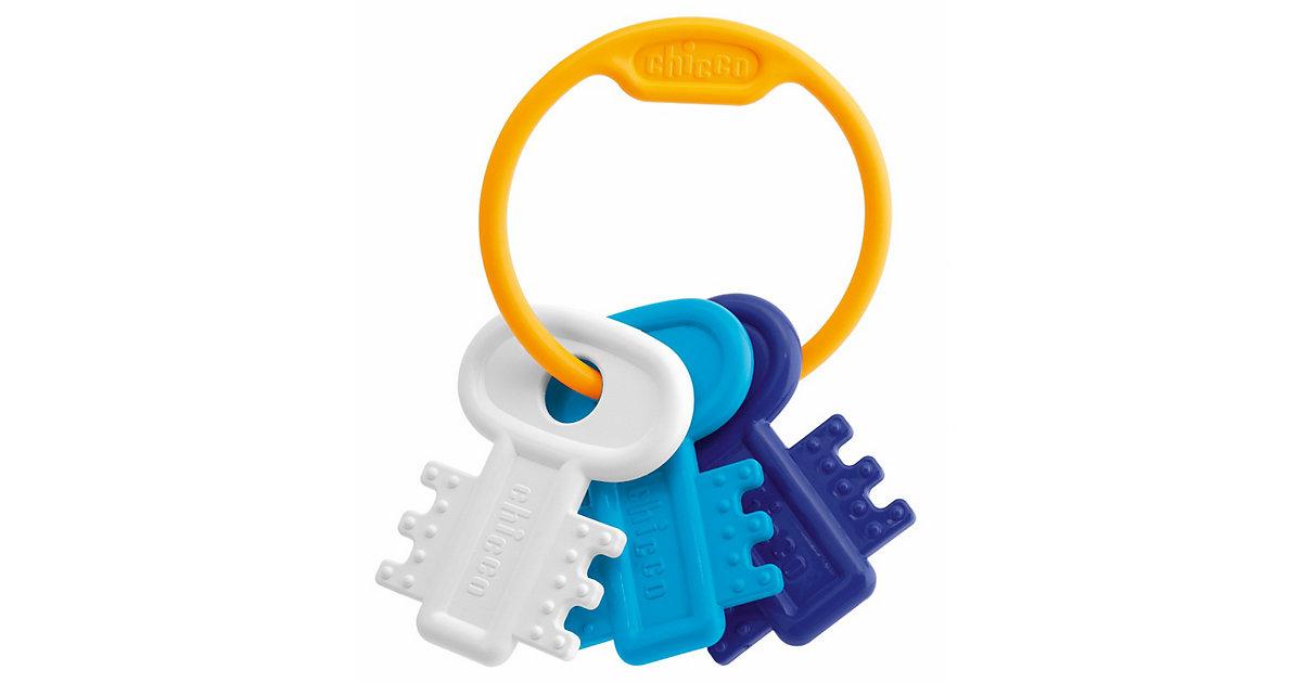 Schlüsselbeißring, blau