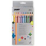 Plus-Farbstifte, 12 Farben, Kartoneui