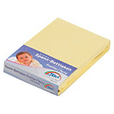 Fitted Sheet for Prams and Cribs, 40 x 90 cm, Terry Cloth, Yellow