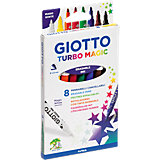 GIOTTO Turbo Magic Zauberstifte, 7 & 1 Farben
