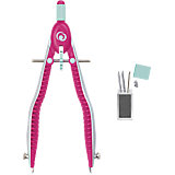 my.pen Quickly Adjustable Compass White/Pink