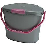 Windeleimer De Luxe, perl-silber/rosa