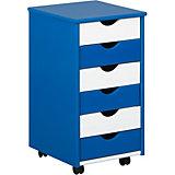 ABC Rollcontainer BEPPO, blau/weiß