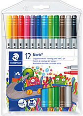 NORIS Club DoppelFilzstifte, 12 Farben