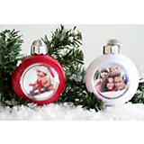 Foto-Weihnachtsbaumkugel, 2 Stück