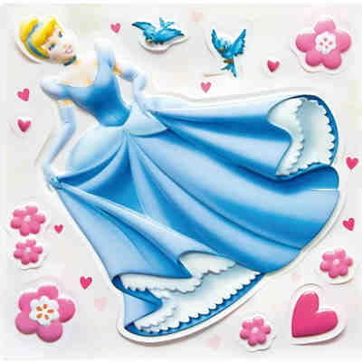 Wandsticker Disney Princess, 3D, Glow in the Dark