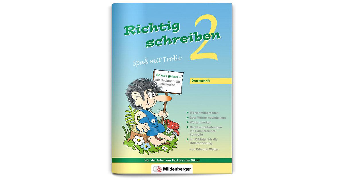 Buch - Richtig schreiben, Spaß mit Trolli: 2. Schuljahr, Druckschrift