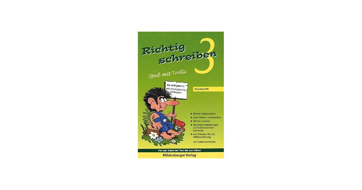Buch - Richtig schreiben, Spaß mit Trolli: 3. Schuljahr, Druckschrift
