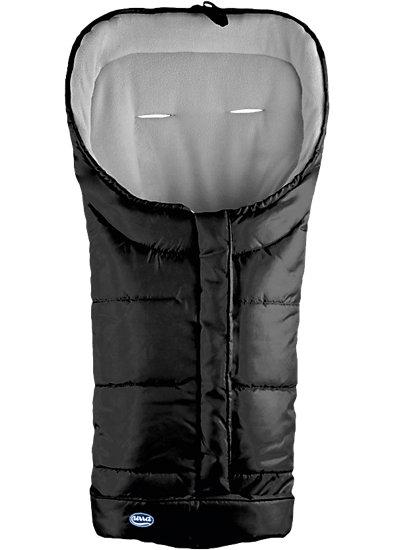 Techno-Fleece Fußsack, schwarz/grau