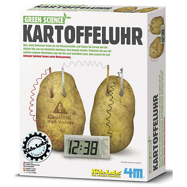 Green Science Bausatz Kartoffeluhr