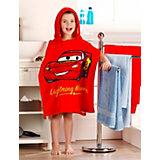 Bath Poncho, Cars, Red, 60 x 120 cm
