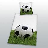 Kinderbettwäsche Fußball, Linon, 135 x 200 cm