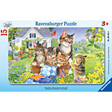 15 Piece Frame Jigsaw Puzzle: Cute Kittens