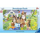 15 Piece Frame Jigsaw Puzzle: Cute Kittens