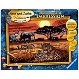 Malen nach Zahlen Premium - Afrikanische Impressionen, 30x40 cm