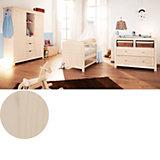 Komplett Kinderzimmer FINJA, 3-tlg. (Kinderbett, Wickelkommode und 2-türiger Kleiderschrank), Fichte massiv/Creme lasiert