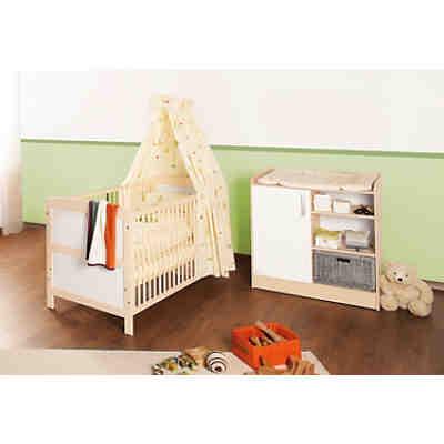 kinderbett wickelkommode sparset florian ahorn. Black Bedroom Furniture Sets. Home Design Ideas
