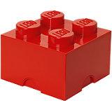 Lego Storage Brick 4er Stein rot