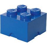 Lego Storage Brick 4er Stein blau