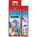GRIP Colour Magic Farbstifte wasservermalbar, 8 Farben & Pinsel
