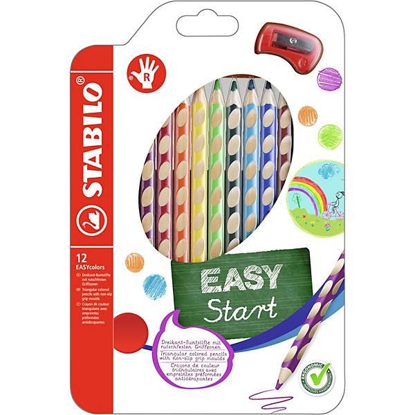 Набор цветных карандашей для правшей, 12 цв., EASYCOLORS