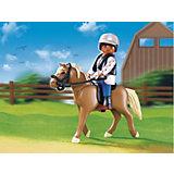 PLAYMOBIL 5109 Конный клуб: Лошадь Хафлингер со стойлом