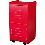 Locker on Castors, Red