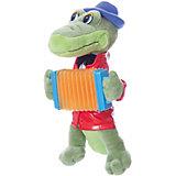Мягкая игрушка Крокодил Гена с аккордеоном, 21 см, со звуком, МУЛЬТИ-ПУЛЬТИ