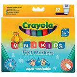 Набор из 12 цветных фломастеров для малышей, Crayola