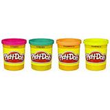 Пластилин в 4-х банках, в ассорт., Play-Doh