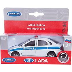 Welly Модель машины 1:34-39 LADA Kalina Милиция ДПС