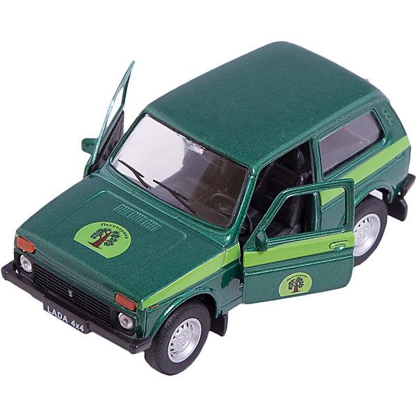 Welly Модель машины 1:34-39 LADA 4x4 Лесоохрана