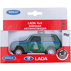 Welly Модель машины 1:34-39 LADA Военная автоиспенкция
