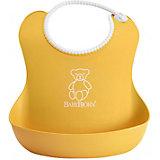 Мягкий нагрудник с карманом BabyBjorn, жёлтый
