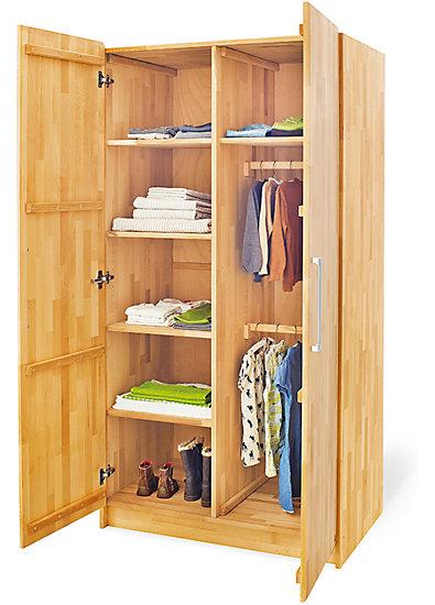 kleiderschrank natura 2 t rig buche vollmassiv ge lt pinolino mytoys. Black Bedroom Furniture Sets. Home Design Ideas