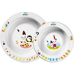 Набор из 2 глубоких тарелок , большая и маленькая, AVENT