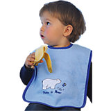 Giant Bib with Velcro Fastening, Polar Bear, Light Blue