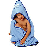Hooded Bath Towel, Polar Bear, Light Blue, 100 x 100 cm