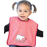 Giant Bib with Velcro Fastening, Polar Bear, Bubblegum
