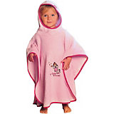 Bath Poncho, Little Princess, Pink, 75 x 120 cm