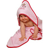 Hooded Bath Towel, Little Princess, Pink, 100 x 100 cm
