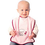 Giant Bib with Velcro Fastener, Cat/Butterfly, Pink
