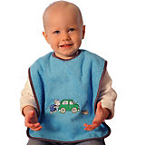 Giant Bib with Velcro Fastener, Mouse/Car, Turquoise
