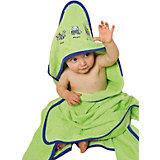 Hooded Bath Towel, Hippo, 100 x 100 cm