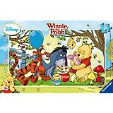 Winnie Pooh Honigparty - 15 Teile Rahmenpuzzle