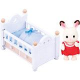 """Набор """"Малыш шоколадный заяц с кроваткой"""" Sylvanian Families"""